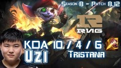 RNG Uzi TRISTANA vs MALZAHAR Mid - Patch 8.12 KR Ranked - YouTube