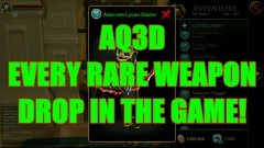 AQ3D Every Rare Weapon Drop! AdventureQuest 3D - YouTube