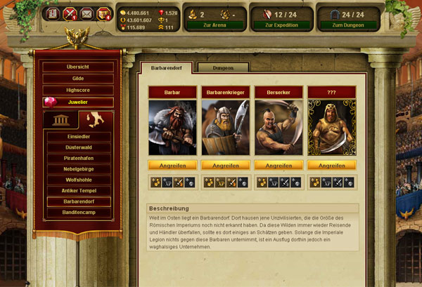 Gladiatus - Online Game of the Week