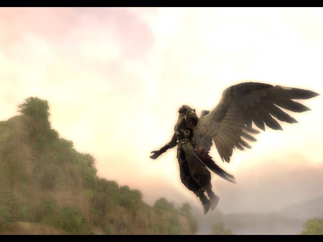 Aion angel flying.