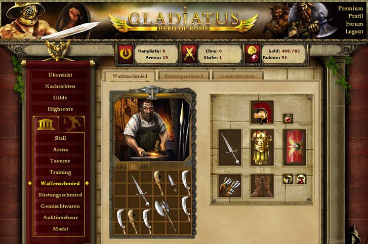 لعبة رائعة الجمال اسمها gladiatus Gladiatus