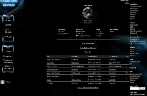 Vanquish Space : Online Games Review Directory