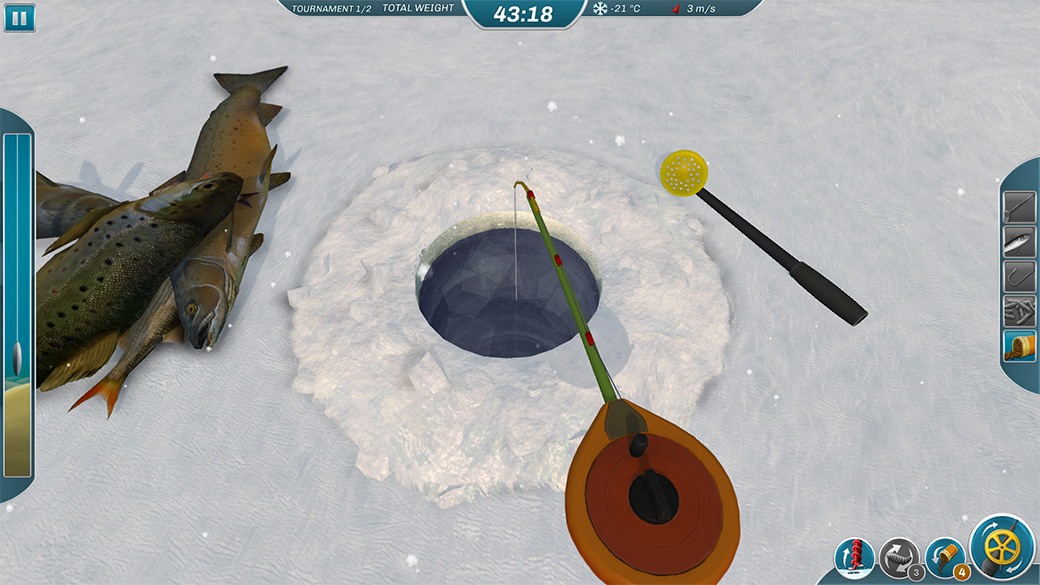 Ice lakes fishing simulator for Ice fishing games free