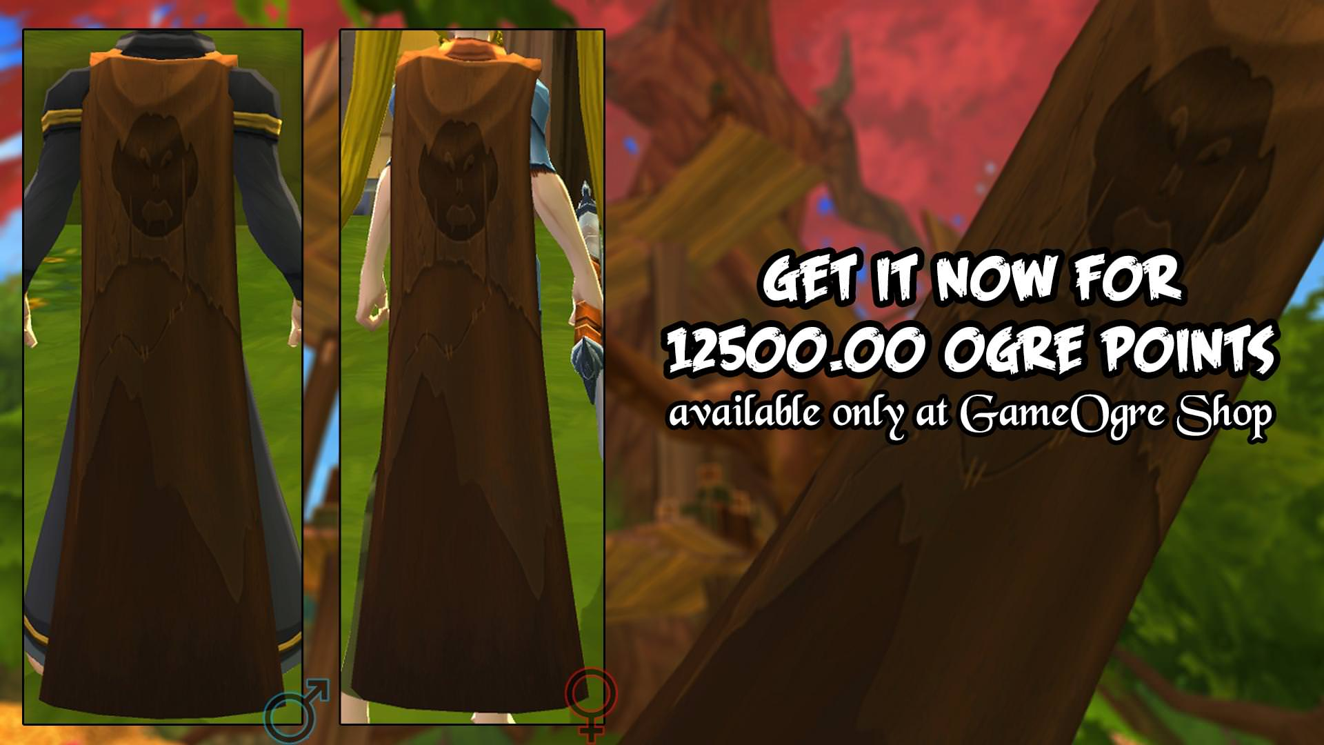 GameOgre AQ3D Leather Cape
